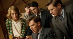 The team. (From left to right) Keira Knightley, Matthew Beard, Matthew Goode, Benedict Cumberbatch and Allen Leech.